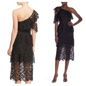 Joie Belisa Black Lace Midi Dress